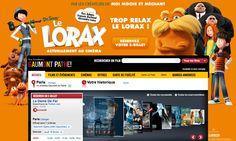 """Habillage """"Le Lorax"""" sur www.allocine.fr  pour Universal Pictures France"""