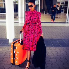 Well our favourite celebrities also have their very own travel style and I bring you my top six looks from Joselyn Dumas to Nhlanhla Nciza to Omoni Oboli African Print Dresses, African Print Fashion, African Dress, African Prints, African Style, New Outfits, Stylish Outfits, Cool Outfits, Structured Fashion