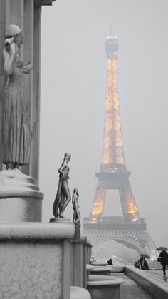 My second city becoming white!#paris #toureiffel #eiffeltower #eiffel #france…
