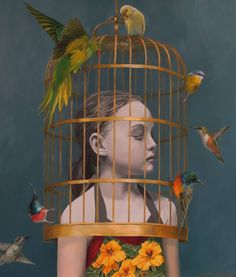 Dreamy Paintings of Girls with Birds – Fubiz Media