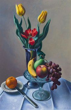 Still Life Thomas by Hart Benton, oil and tempera on masonite, 1962 Lost Art, Global Art, Art Auction, Art Market, Paintings For Sale, American Artists, Artist Art, Still Life, Original Artwork