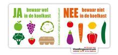 Welke groenten en fruit bewaar je beter (niet) in de koelkast? | Radio1