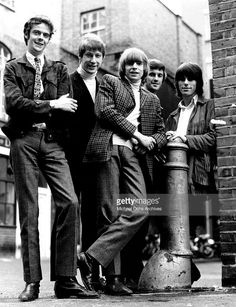 Rock band 'The Yardbirds' pose for a portrait in 1965. (L-R) Paul Samwell-Smith…