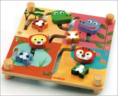 #Djeco Mixanimo houten puzzel 2j from www.kidsdinge.com    www.facebook.com/pages/kidsdingecom-Origineel-speelgoed-hebbedingen-voor-hippe-kids/160122710686387?sk=wall        http://instagram.com/kidsdinge #Kidsdinge #toys