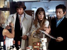 "Serge Gainsbourg and Jane Birkin in ""Slogan"" directed by Pierre Grimblat, 1969."
