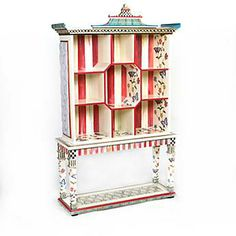 Butterfly Pagoda Bookshelf with Console Table is perfect for my tea pot collection!