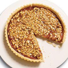 Quince Tart with Pine Nut Caramel Glaze | MyRecipes.com