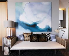 watercolor artwork with frame Black Crow Studios — at The Issara Ladprao The Luxurious Condo.