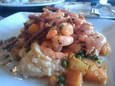 ... Glendale, OH) - shrimp and grits with an autumn succotash. Delightful
