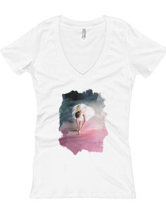 DRESS UP ART - S.BARBIERI'S ARTDESIGN WOMEN'S V-NECK T-SHIRT $24.50 The ring-spun cotton and polyester blend give this v-neck tee an easy-breezy feel, perfect for a warm summer's day 👕 🎁  #t-shirt #fashion #shopping