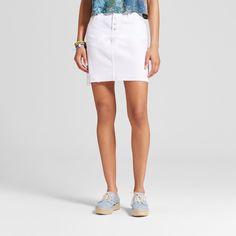 Women's Denim Skirt - Mossimo Supply Co. White 12