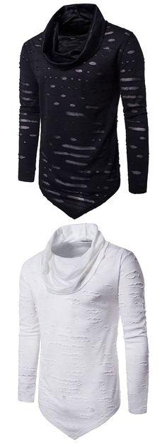 Men's fashion:Triangle Bottom Long Sleeve T-shirt
