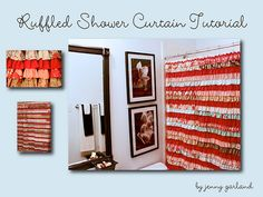ruffled shower curtain...I am sure I would never make this...but, I so want to know how to get to this tut if ever I do....how cute!!!