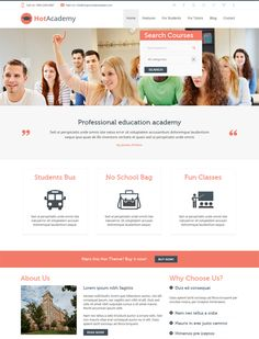 This education Joomla template for schools features a flat design, Google Maps integration, unlimited colors, SEO-friendly code, 16 module positions, a responsive layout, RTL language support, a drag and drop layout builder, and more.