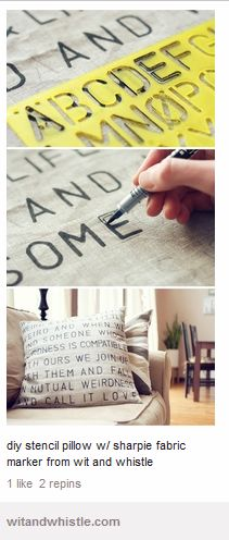 Cushion DIY sharpie
