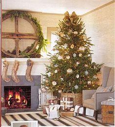Christmas Tree Basket - cute idea