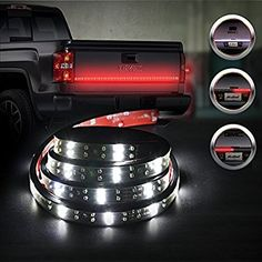 "Amazon.com: MICTUNING Double Row 60"" Truck Tailgate LED Strip Light Bar Red/white Reverse Turn Stop Tail Signal: Home Audio & Theater"