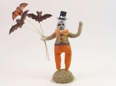 Mr. Bats Vintage Inspired Spun Cotton Figure OOAK (READY To SHIP!) by VintagebyCrystal on Etsy