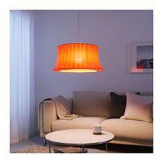 IKEA - ÄMTEVIK, ランプシェード, , ランプシェードにお好みのコードセットやランプベースを組み合わせて、自分だけの個性的なペンダントランプやフロアランプをつくりましょうシェード部分の布地は取り外して洗濯機で洗えます柔らかな光が広がるテキスタイルシェード。ソフトで心地よい雰囲気を演出できます