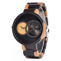 BOBO BIRD Luxury Lover's Wood Watch Men Two Time Zone Display with Special Color New Design Quartz Watches erkek kol saati Wooden Watches For Men, Couple Watch, Ocean Jewelry, Wooden Sunglasses, Time Zones, Watch Sale, Couple Gifts, Gift For Lover
