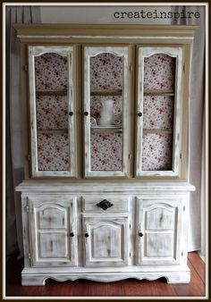 Thrift to Beatiful Country Styled Hutch Makeover For Dollars !