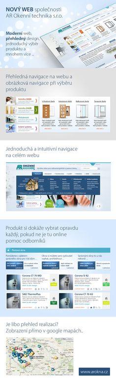 Rozsáhlá prezentace pro výrobce plastových oken AR okenní technika. Webové stránky navržené tak, aby na úvodu korespondovali s aktuální reklamní kampaní, která se odehrává zejména na billboardech a v hypermarketech...