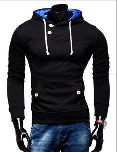 Men's Double Pocket Hoodie Sweatshirt - 6 Colors