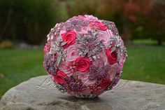 Create a brooch bouquet instead of using flowers
