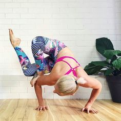 """It doesn't matter how deep into a posture you go what matters is who you are when you get there.""  Max Strom. Here @daniquerambo wearing Onzie Long Leggings in Juicy Leaf print available at http://ift.tt/1OKOJxQ #YogaHabits #yogainspiration #armbalance #yogaplay #PracticePracticePractice #balance #yogachallenge #yogateacher #madaboutyoga #yogalove"