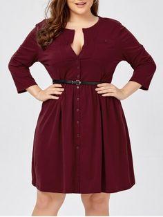 Plus Size Button Down Dress Plus Size Shirt Dress, Plus Size Maxi Dresses, Plus Size Outfits, Tunic Dresses, Halter Dresses, Dress Tops, Cheap Plus Size Clothing, Cheap Cocktail Dresses, Button Down Shirt Dress
