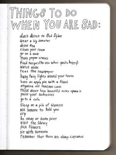 #inspiration, #sadness, #sad, #list
