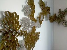 Earthquake safe wall art for above your bed =) Made from toilet paper rolls.