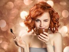 Pretty Woman Drinking Coffee Stock Photo - Image of hand, breakfast: 23541272 Fred Astaire, Nespresso, Copper Red Hair, Funny Blogs, Coffee Stock, Coffee Images, Coffee Girl, Partys, Great Coffee