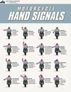 Motorcycle Hand Signals for the US
