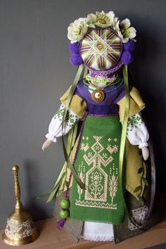 Ukrainian Motanka doll. It is one of the most ancient of Ukrainian handmade household items that is found in every corner of the country. This is the descendant of a goddess-doll symbolizing Rozhanytsa (the one giving birth) – a patroness of the women's lot and fertility protector, which have been worshiped since ancient Slavic and Trypillya (archeological culture from the copper epoch named after Trypillya – a village in Kyiv region) times.