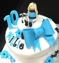 10th Birthday cake for a special birthday!  Customised cakes and cupcakes available. Based in Leek Staffordshire.