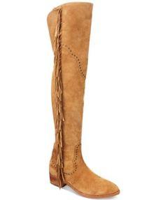 Frye Ray Fringe Over-The-Knee Boots | macys.com