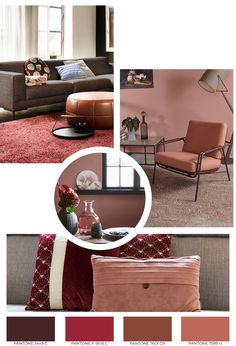 Mood Boards, Bordeaux, Ottoman, Living Room, Chair, Table, House, Furniture, Home Decor