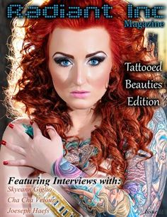 Radiant Inc Mag | Issue 1 Feb 2012 - p50 Red Hair Color, Hair Colors, Photography Business, Tattoos For Women, Tattoo Artists, Interview, Photoshop, Wonder Woman, Magazine