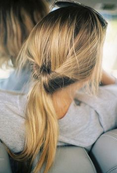 Quick and easy way to tie up your hair, just knot it up!