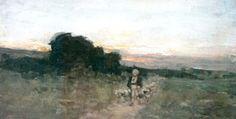 Cioban cu oi în apus de soare Artist, Painting, Mai, Europe, Painting Art, Paintings, Painted Canvas, Artists