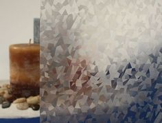 Ice Crystals Privacy Window Film - Embossed Vinyl Glass Covering