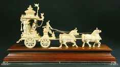 Buy online, view images and see past prices for Ex. rare Ivory Kuruksherta Chariot, India, C.1800. Invaluable is the world's largest marketplace for art, antiques, and collectibles. Krishna Statue, Krishna Art, Temple Design For Home, Phoenix Bird, Horse Drawn, Oriental, Indian Style, Pottery Art, Les Oeuvres
