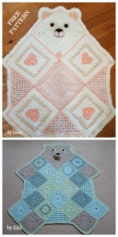 Crochet afghans 513128951293661203 - Crochet Teddy Bear Afghan Blanket Free Crochet Patterns Source by Crochet Baby Blanket Free Pattern, Crochet Teddy Bear Pattern, Crochet Bear, Free Crochet, Crochet Baby Afghans, Baby Afghan Patterns, Crochet Blankets, Crotchet, Crochet Crafts