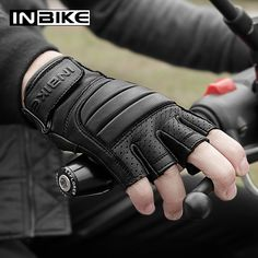 INBIKE Motorcycle Genuine Leather Gloves Mens Protective Motorbike Gloves Brown XX-Large