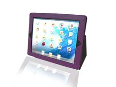 fantastic Bear Motion ® Premium Cover Case for iPad 2 2nd Generation Folio with 3-in-1 built-in Stand for Apple iPad 2 Tablet (Purple) - 24 HOURS Extreme Value Buy