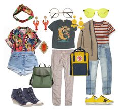 """""""manic pixie dream girl"""" by altairvegas on Polyvore featuring Gucci, Levi's, Madewell, Dolce&Gabbana, Cathy Waterman, Aéropostale, Hollister Co., Brunello Cucinelli, Humble Chic and Golden Goose"""