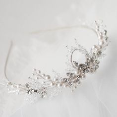 A customised Carla bridal tiara for the lovely Emily from Hong Kong - loving the combination of crystals, pearls and rhinestones. // Percy Handmade can create the perfect piece for your wedding day, find out more about the bespoke process via the link in my profile - just look for 'Bespoke' in the navigation! #bridaltiara #tiara #wedding #bridalhair #weddingtiara #headpiece #weddingaccessories #bridalhairpiece #percyhandmade #custom #handmade