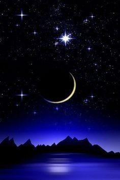 Night Sky Stars, Night Skies, Beautiful Landscape Wallpaper, Beautiful Landscapes, The Magic Faraway Tree, Paradise Wallpaper, Night Sky Painting, Photo Voyage, Night Sky Wallpaper