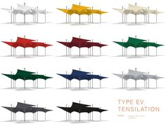 Designed by MDT and Grimshaw Architects, the Tensilation (Type EV series) canopy represents a major shift in the concept of shelter systems. It offers both the flexibility that comes with modular canopies and the engineering advantages of a unified structure. The system can be used independently for events or annexed to buildings or marquees to deal quickly with changes in crowd size.